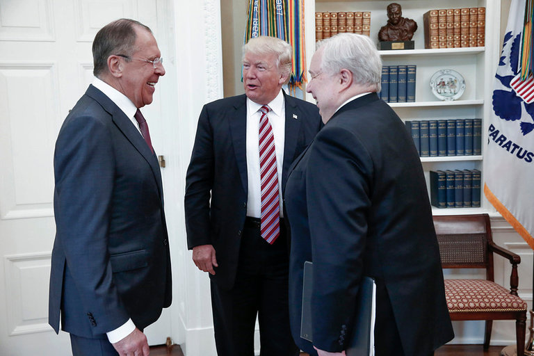 Trump President, Russian Foreign Minister Lavrov and Ambassador Kislyak